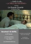 La Table des Matières Ciné-Club Maurice-Pialat 19 avril 2019.jpg