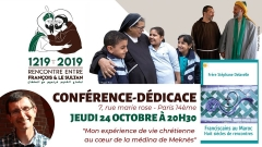 librairie franciscaine jeudi 24 oct 2019 conférence -dédicace frère stephane delavell franciscains au maroc huit siècles de rencontres.jpg