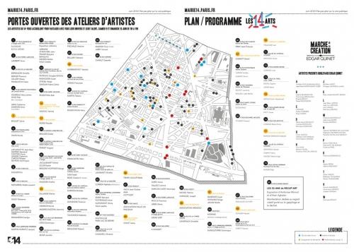 Portes Ouvertes des Ateliers d'artistes 9 et 10 juin 2018 -Les14arts- plan 75014-2018.jpg